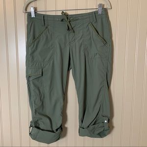 REI Aldervale Roll Up Convertible Pants Green 2P